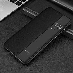Coque Portefeuille Livre Cuir Etui Clapet P01 pour Huawei Mate 20 Lite Noir