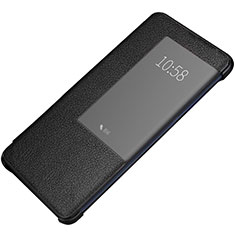 Coque Portefeuille Livre Cuir Etui Clapet P01 pour Huawei Mate 20 Pro Noir
