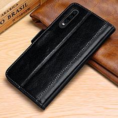 Coque Portefeuille Livre Cuir Etui Clapet P01 pour Huawei P30 Noir