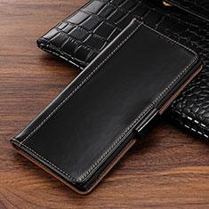 Coque Portefeuille Livre Cuir Etui Clapet P01 pour Samsung Galaxy Note 10 5G Noir