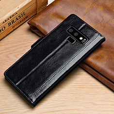 Coque Portefeuille Livre Cuir Etui Clapet P01 pour Samsung Galaxy Note 9 Noir