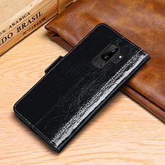 Coque Portefeuille Livre Cuir Etui Clapet P01 pour Samsung Galaxy S9 Plus Noir