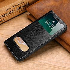 Coque Portefeuille Livre Cuir Etui Clapet P02 pour Apple iPhone Xs Noir