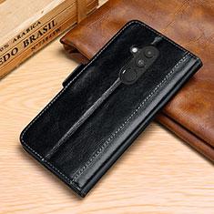Coque Portefeuille Livre Cuir Etui Clapet P02 pour Huawei Mate 20 Lite Noir