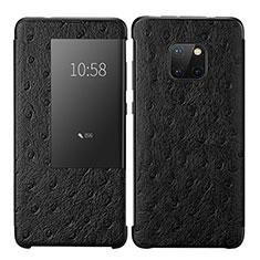 Coque Portefeuille Livre Cuir Etui Clapet P02 pour Huawei Mate 20 Pro Noir