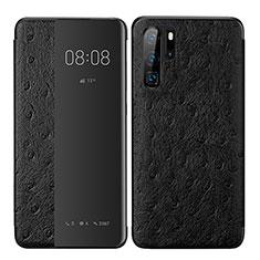 Coque Portefeuille Livre Cuir Etui Clapet P02 pour Huawei P30 Pro Noir