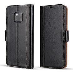 Coque Portefeuille Livre Cuir Etui Clapet P03 pour Huawei Mate 20 Pro Noir