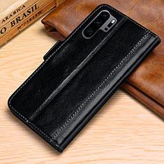 Coque Portefeuille Livre Cuir Etui Clapet P03 pour Huawei P30 Pro Noir