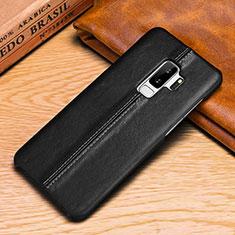 Coque Portefeuille Livre Cuir Etui Clapet P03 pour Samsung Galaxy S9 Plus Noir
