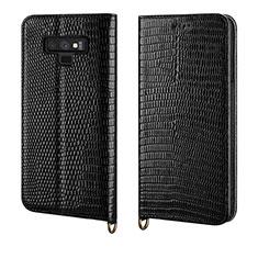 Coque Portefeuille Livre Cuir Etui Clapet P04 pour Samsung Galaxy Note 9 Noir