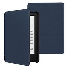 Coque Portefeuille Livre Cuir Etui Clapet pour Amazon Kindle 6 inch Bleu