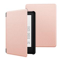 Coque Portefeuille Livre Cuir Etui Clapet pour Amazon Kindle 6 inch Rose