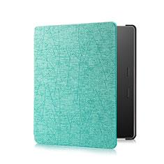 Coque Portefeuille Livre Cuir Etui Clapet pour Amazon Kindle Oasis 7 inch Cyan