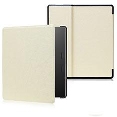 Coque Portefeuille Livre Cuir Etui Clapet pour Amazon Kindle Oasis 7 inch Or