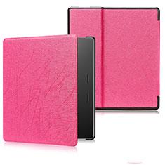 Coque Portefeuille Livre Cuir Etui Clapet pour Amazon Kindle Oasis 7 inch Rose Rouge