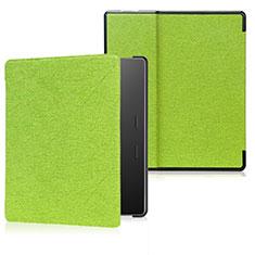 Coque Portefeuille Livre Cuir Etui Clapet pour Amazon Kindle Oasis 7 inch Vert