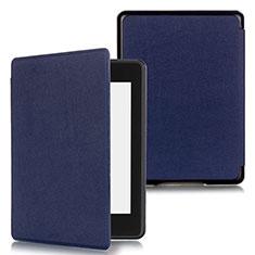 Coque Portefeuille Livre Cuir Etui Clapet pour Amazon Kindle Paperwhite 6 inch Bleu