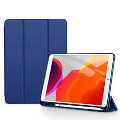 Coque Portefeuille Livre Cuir Etui Clapet pour Apple iPad 10.2 (2020) Bleu