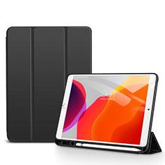 Coque Portefeuille Livre Cuir Etui Clapet pour Apple iPad 10.2 (2020) Noir