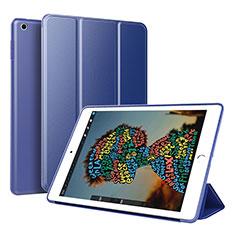 Coque Portefeuille Livre Cuir Etui Clapet pour Apple iPad Mini 5 (2019) Bleu