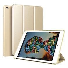 Coque Portefeuille Livre Cuir Etui Clapet pour Apple iPad Mini 5 (2019) Or