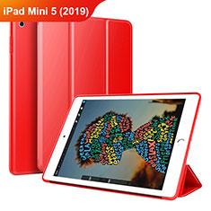 Coque Portefeuille Livre Cuir Etui Clapet pour Apple iPad Mini 5 (2019) Rouge