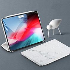 Coque Portefeuille Livre Cuir Etui Clapet pour Apple iPad Pro 11 (2018) Blanc