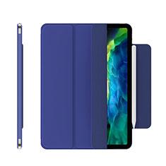 Coque Portefeuille Livre Cuir Etui Clapet pour Apple iPad Pro 12.9 (2020) Bleu