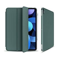 Coque Portefeuille Livre Cuir Etui Clapet pour Apple New iPad Air 10.9 (2020) Vert