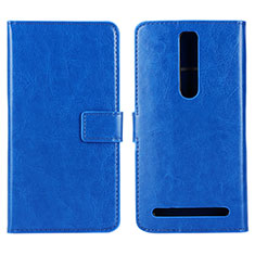 Coque Portefeuille Livre Cuir Etui Clapet pour Asus Zenfone 2 ZE551ML ZE550ML Bleu