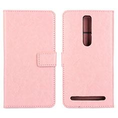 Coque Portefeuille Livre Cuir Etui Clapet pour Asus Zenfone 2 ZE551ML ZE550ML Rose