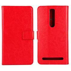 Coque Portefeuille Livre Cuir Etui Clapet pour Asus Zenfone 2 ZE551ML ZE550ML Rouge