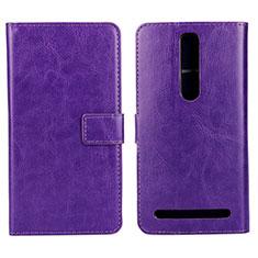 Coque Portefeuille Livre Cuir Etui Clapet pour Asus Zenfone 2 ZE551ML ZE550ML Violet