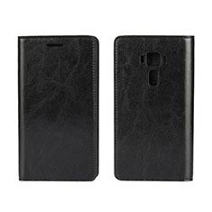 Coque Portefeuille Livre Cuir Etui Clapet pour Asus Zenfone 3 ZE552KL Noir