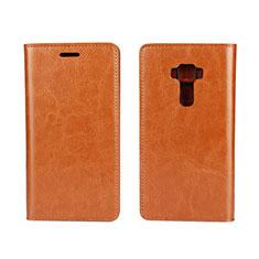 Coque Portefeuille Livre Cuir Etui Clapet pour Asus Zenfone 3 ZE552KL Orange