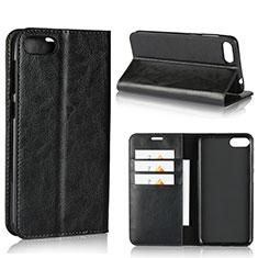 Coque Portefeuille Livre Cuir Etui Clapet pour Asus Zenfone 4 Max ZC554KL Noir
