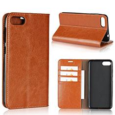 Coque Portefeuille Livre Cuir Etui Clapet pour Asus Zenfone 4 Max ZC554KL Orange
