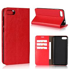 Coque Portefeuille Livre Cuir Etui Clapet pour Asus Zenfone 4 Max ZC554KL Rouge