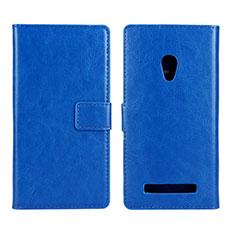 Coque Portefeuille Livre Cuir Etui Clapet pour Asus Zenfone 5 Bleu