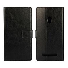 Coque Portefeuille Livre Cuir Etui Clapet pour Asus Zenfone 5 Noir