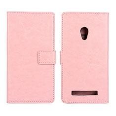 Coque Portefeuille Livre Cuir Etui Clapet pour Asus Zenfone 5 Rose