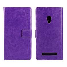 Coque Portefeuille Livre Cuir Etui Clapet pour Asus Zenfone 5 Violet