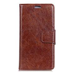Coque Portefeuille Livre Cuir Etui Clapet pour Asus Zenfone 5 ZE620KL Marron