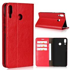 Coque Portefeuille Livre Cuir Etui Clapet pour Asus Zenfone 5z ZS620KL Rouge