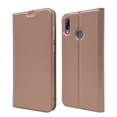 Coque Portefeuille Livre Cuir Etui Clapet pour Asus Zenfone Max M2 ZB633KL Or Rose