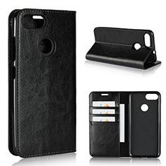 Coque Portefeuille Livre Cuir Etui Clapet pour Asus Zenfone Max Plus M1 ZB570TL Noir