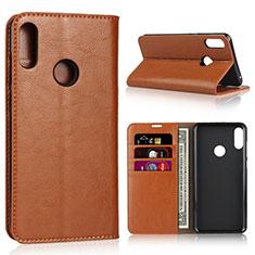 Coque Portefeuille Livre Cuir Etui Clapet pour Asus Zenfone Max Pro M2 ZB631KL Orange