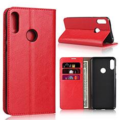 Coque Portefeuille Livre Cuir Etui Clapet pour Asus Zenfone Max Pro M2 ZB631KL Rouge