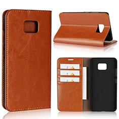 Coque Portefeuille Livre Cuir Etui Clapet pour Asus ZenFone V V520KL Orange