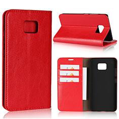 Coque Portefeuille Livre Cuir Etui Clapet pour Asus ZenFone V V520KL Rouge